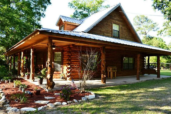 Log cabin wrap around porch bing images country cabins for Full wrap around porch log homes