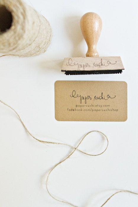 Sello de la tarjeta de visita - Custom 2 3/4 tarjeta de visita o sello de la tienda de Etsy para tarjetas de negocios y una tienda de esta tarjeta