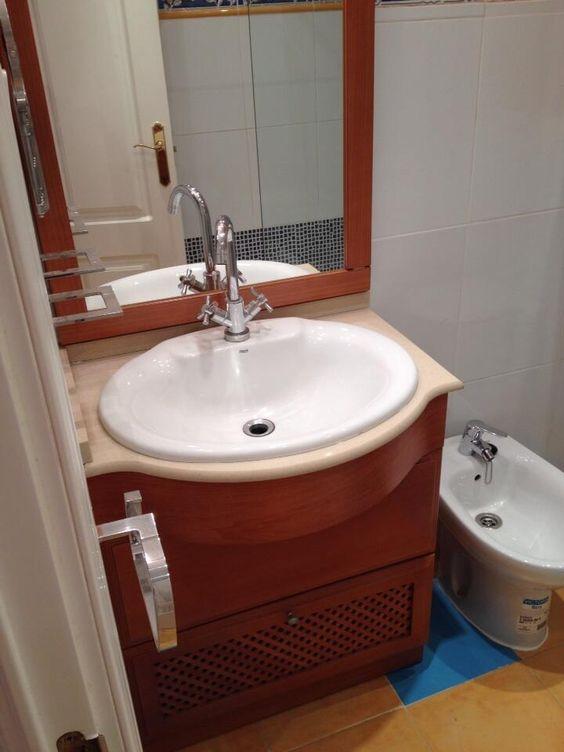Colocación de mueble de baño un lavabo encastado  DELMOTEX Linares