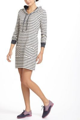 Sketched Stripe Hooded Chemise