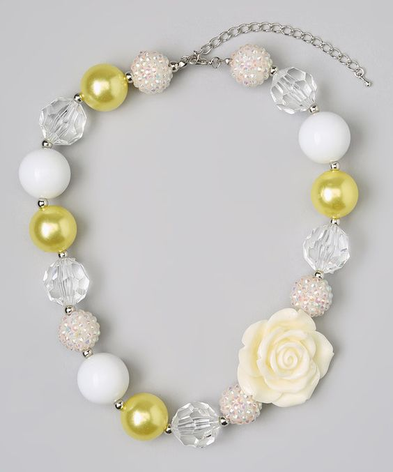 Olivia Rae -Yellow Flower Bead Necklace on zulily