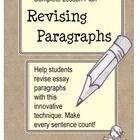 Revising Paragraphs in Essays $3.00 diigital download
