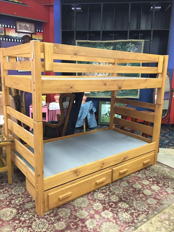 Bunk Bed with two drawers-$269 #bunkbed #bed #child #forsale #bedroom #sleep #nap #furniture #mk #consignment #home #house #apartment #design #homedecor #homedesign