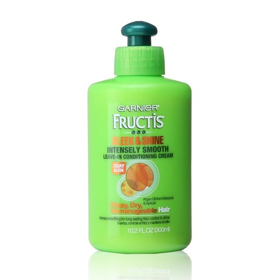 styling hair with conditioner garnier fructis sleek amp shine intensely smooth leave in 8471