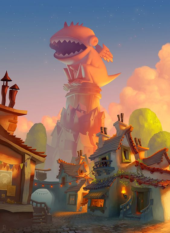 Character Design Environment : Environment designs on character design served