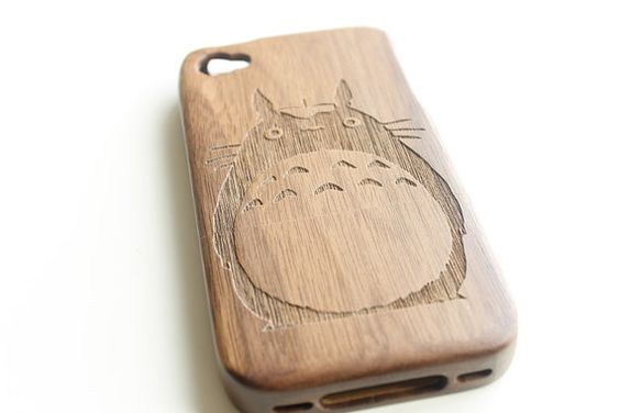 Totoro iPhone 4s Case Wooden iPhone 4s Case Bamboo by NaturePieces, $20.00