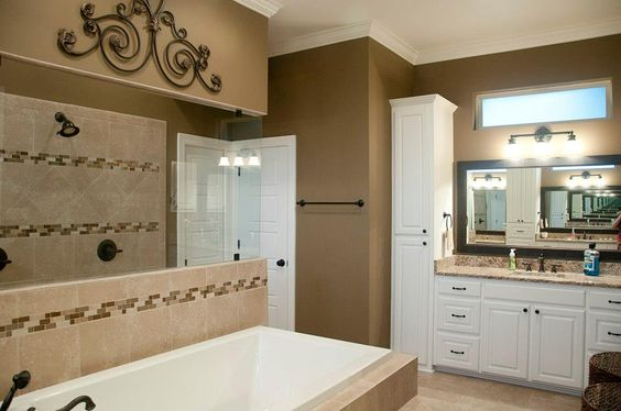 Warm nice and colors on pinterest for Warm bathroom colors