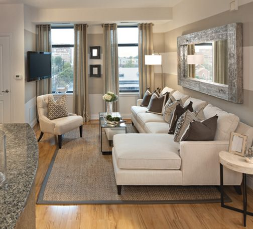 living rooms small spaces wall stripes love the tvs nice family rooms