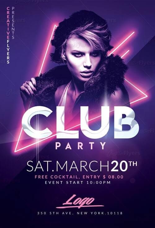 Best Club Party Flyer Psd Templates Creativeflyers