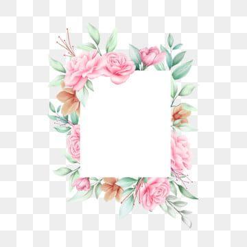 Gambar Bingkai Bunga Segi Empat Tepat Romantis Untuk Kad Jemputan Clipart Segi Empat Tepat Perkahwinan Jemputan Png Dan Vektor Untuk Muat Turun Percuma Bingkai Bunga Romantis Bunga