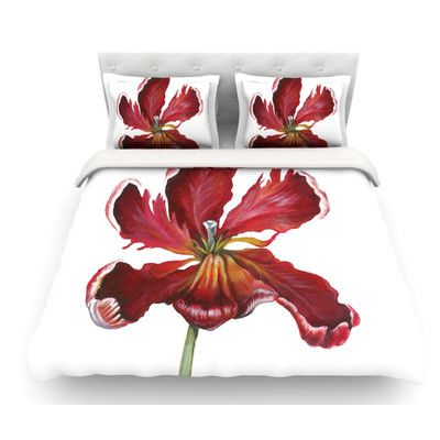 East Urban Home Open Tulip by Lydia Martin Featherweight Duvet Cover Size: