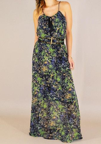 This breezy maxi dress is perfect for the summertime.  A must have!!