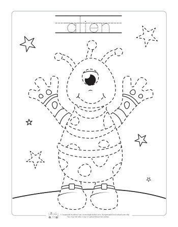 Space Tracing Worksheets Itsybitsyfun Com Space Preschool Tracing Worksheets Kids Learning Activities