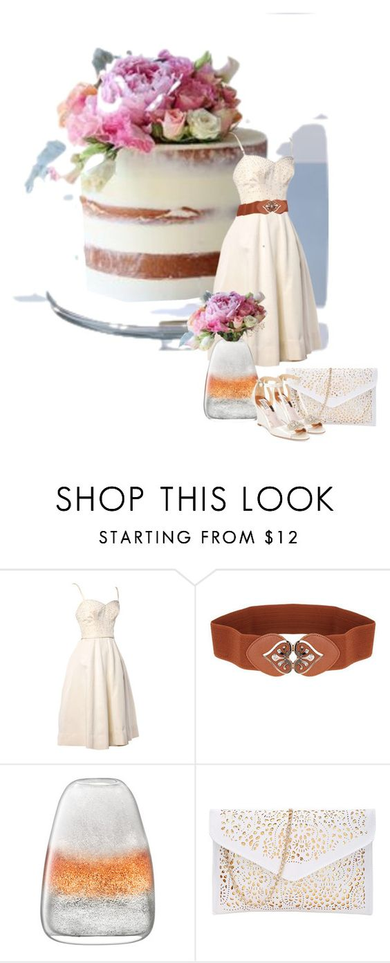 """Cake"" by andifrancois ❤ liked on Polyvore featuring LSA International and Badgley Mischka"