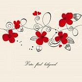 nozze cartoon : sfondo floreale