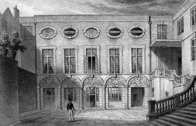 Brewers' Hall, Addle Street, print made by W. Radclyffe, 1831 (engraving) Wall Art & Canvas Prints by Thomas Hosmer Shepherd
