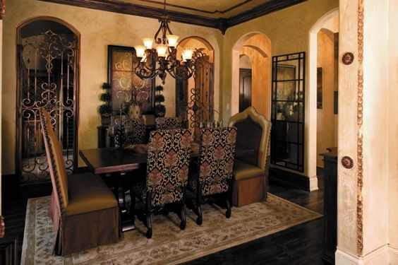 Great Old World / Tuscan Dining Room Dining Rooms Pinterest