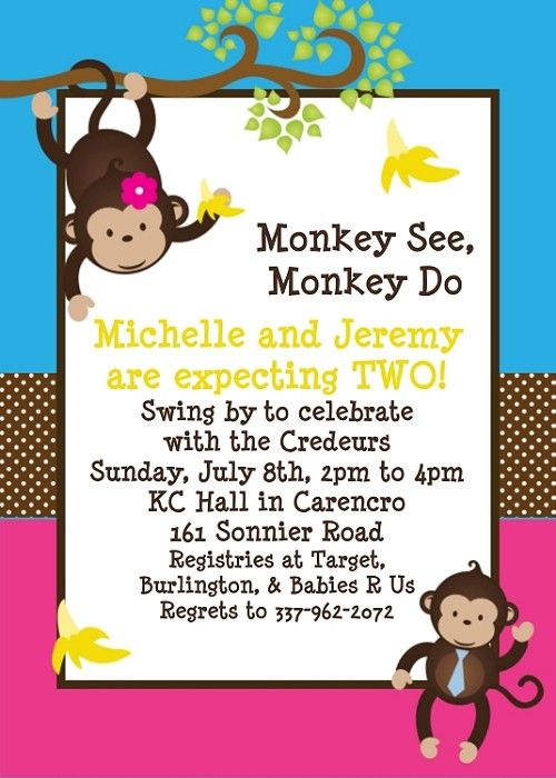 monkey birthday rhymes sydney baby shower invitations baby showers