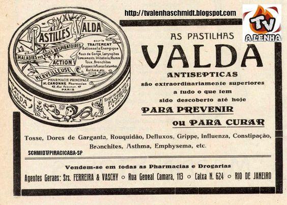 PROPAGANDA ANTIGA - PASTILHAS VALDA (PASTILLES VALDA)