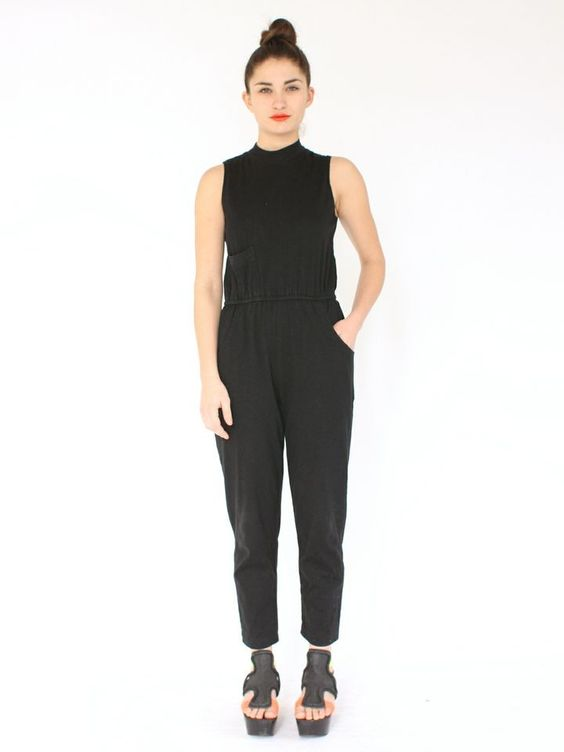 This little black jumpsuit is easily dressed up or down and transitions effortlessly from season to season.