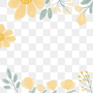 Border Yellow Flower Card Border Flower Small Floral Warm Png Transparent Clipart Image And Psd File For Free Download Flower Clipart Flower Drawing Flower Frame