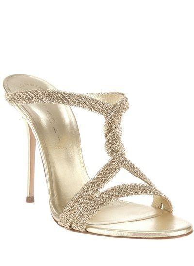 champagne - CASADEI - Twist detail sandal