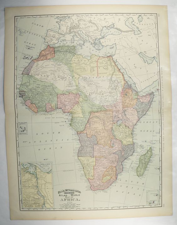 Gifts For New Home Africa Map And Vintage Maps On Pinterest