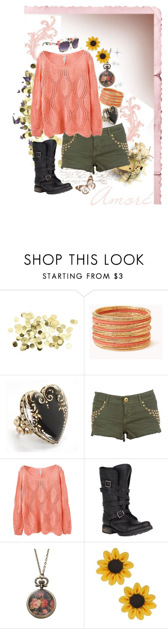 """Amoré"" by faleur102 ❤ liked on Polyvore featuring Forever 21, Sweet Romance, Steve Madden, Sole Society, love, Pink, Boots and amore"