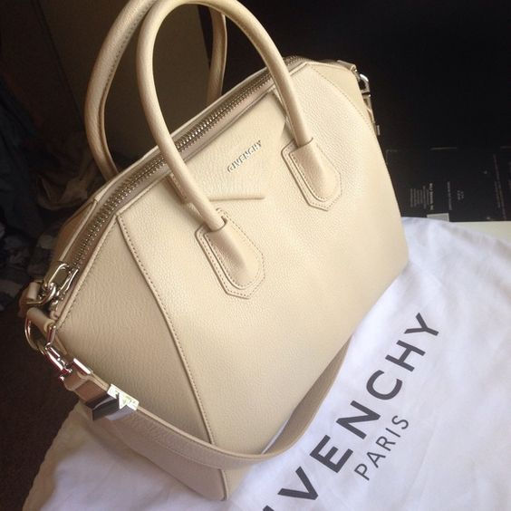 Givenchy Antigona Medium Bag in Beige FIRM PRICE. FIRM PRICE. New with tag and dust bag. Size Medium. I DONT TRADE PLEASE DO NOT ASK. Check other post in my closet for more pictures Givenchy Bags