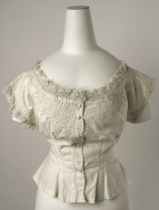 Corset Cover, 1870s, cotton, The Met.