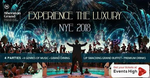 New Year Celebrations 2018 Sheraton Grand Bangalore Hotel At Brigade Gateway With Dj Mohasin Kenishaa New Years Party New Year Celebration Newyear