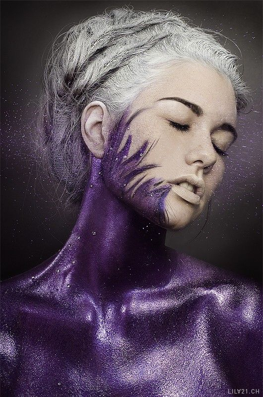 Purple- something simple yet gorgeous