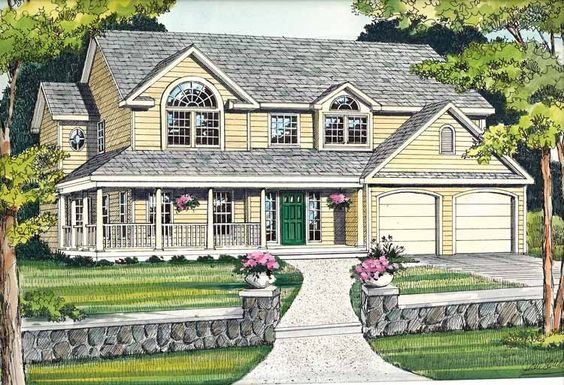 Eplans Country House Plan - Up-To-Date - 2470 Square Feet and 4 Bedrooms(s) from Eplans - House Plan Code HWEPL10180