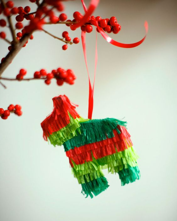 Project from @Laura Fenton: Pinata ornament, made from streamers. #holiday #crafts #pinspirationparty