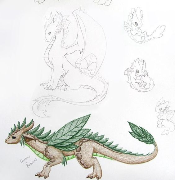 Element dragon drawing ideas