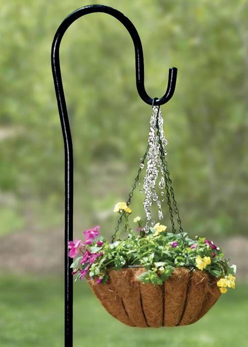 Shepherd S Hooks Hanging A Flower Basket Hanging Plants