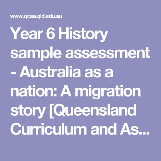 Year  History Sample Assessment  Australia As A Nation A