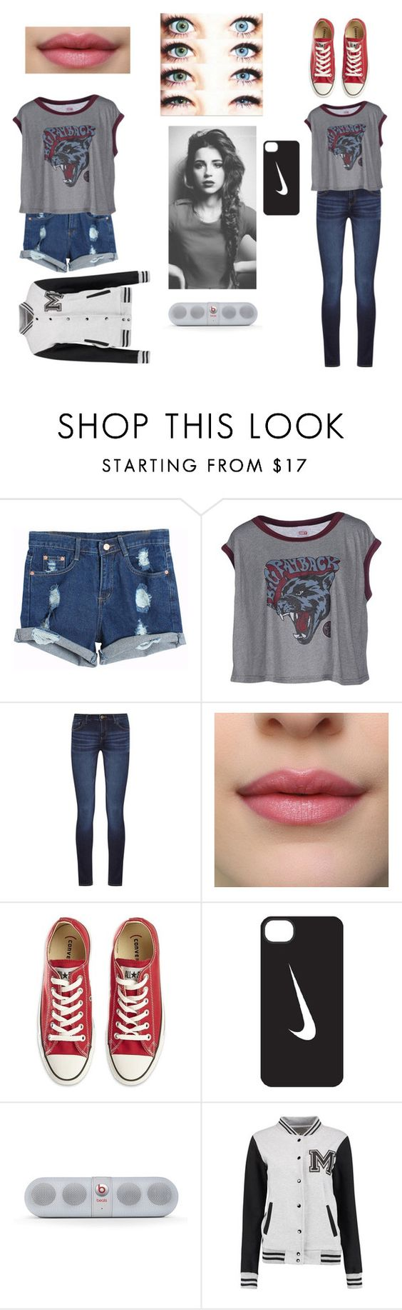 """Idk2"" by bo3blackgunsniper ❤ liked on Polyvore featuring OBEY Clothing, DL1961 Premium Denim, Converse, NIKE and Beats by Dr. Dre"