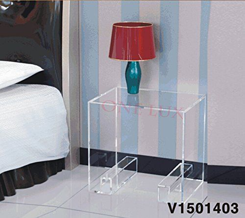 Waterfall Crystal Acrylic Bedside Magazine Table Curly Legs Lucite Occasional Sofa Tea Tables Nightstand Magazine Table Tea Table Bedside Night Stands