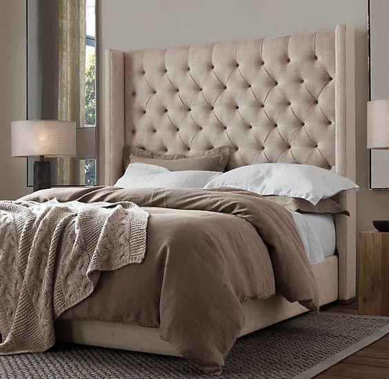 restoration hardware stone washed belgian linen duvet pillow shams and bedskirt bedhead. Black Bedroom Furniture Sets. Home Design Ideas