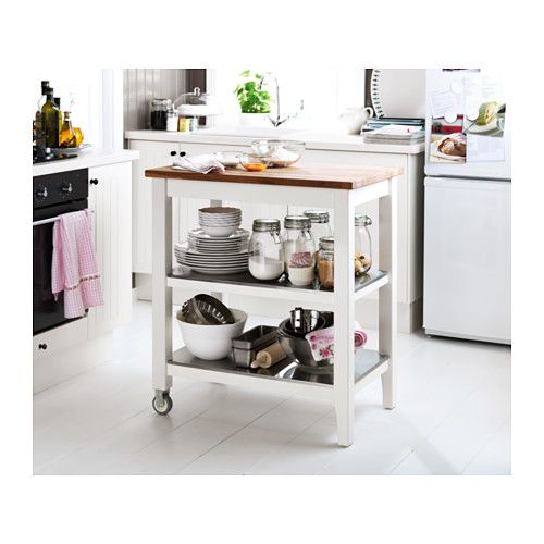 Stenstorp kitchen trolley ikea used as small moveable for Ikea stenstorp ka cheninsel