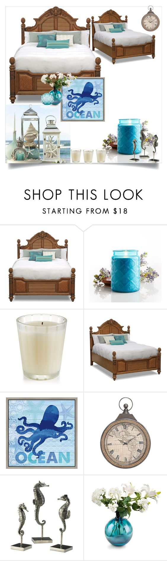 """""""Ocean"""" by ac-awesome ❤ liked on Polyvore featuring interior, interiors, interior design, home, home decor, interior decorating, Pier 1 Imports, Home Design Studio, Green Leaf Art and Universal Lighting and Decor"""