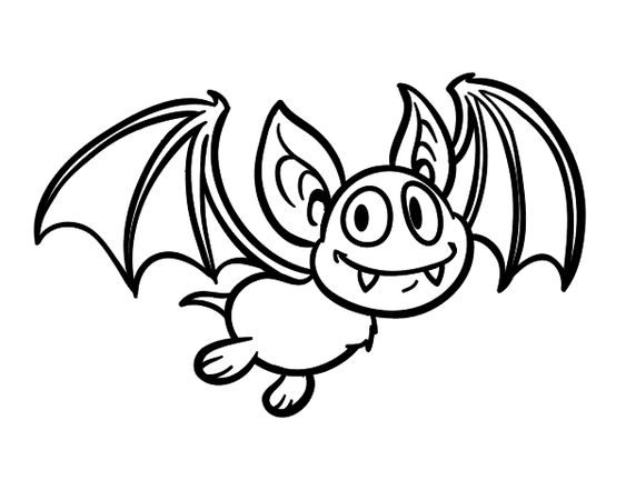 Dibujo de murci lago vampiro para colorear halloween - Dibujos de murcielagos para ninos ...