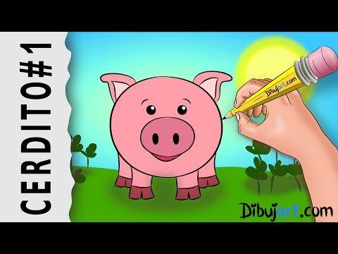 Aprende A Dibujar Facilmente Un Sencillo Cerdito De La Granja De Los Ninos Siguiendo El Lapi Como Dibujar Un Cerdo Clases De Arte Para Ninos Cerdo Para Dibujar