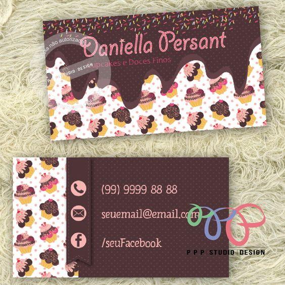 Cartão De Visita - Cupcake 2
