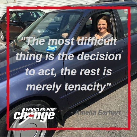Our #MotivationMonday http://ow.ly/Csjf306agw0 is all about taking the first step. When you decide to donate your car to Vehicles for Change, you are helping a low-income individual move forward with their life.