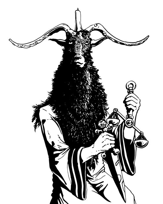 A cultist dresses as Baphomet