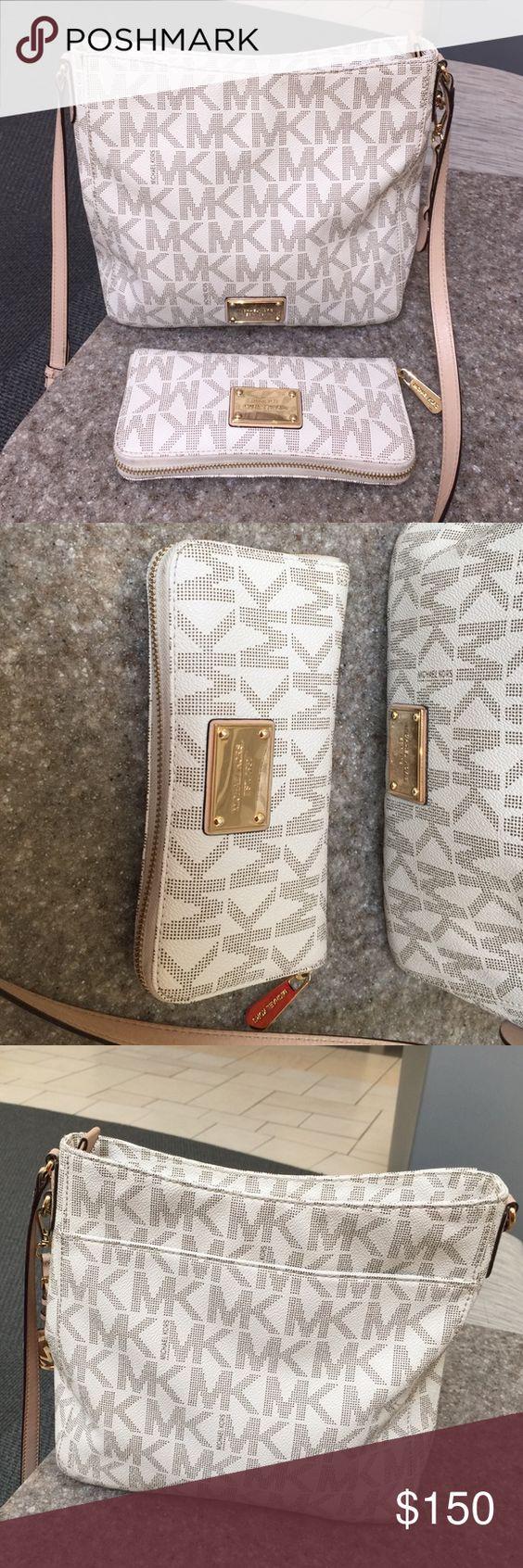 Michael Kors Crossbody Purse & Wallet Gently used MK purse and wallet. Michael Kors Bags Crossbody Bags