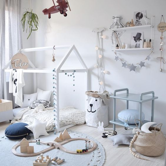 Cama Casita para habitaciones infantiles