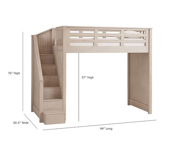 Catalina Stair Loft Bed Pottery Barn Kids Kids Loft Beds Loft Bed Plans Diy Loft Bed
